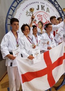 The JKA Europeans Junior team at the Europeans